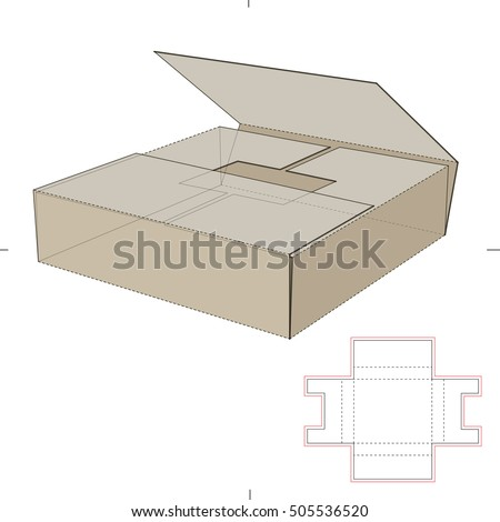 book shipper package with die cut template