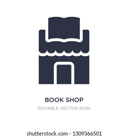 book shop icon on white background. Simple element illustration from Education concept. book shop icon symbol design.