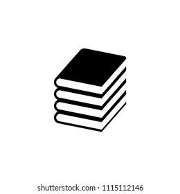 Book Stack. Flat Vector Icon illustration. Simple black symbol on white background. Book Stack sign design template for web and mobile UI element