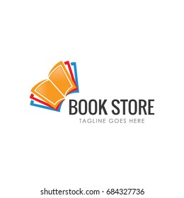book store logo icon vector template