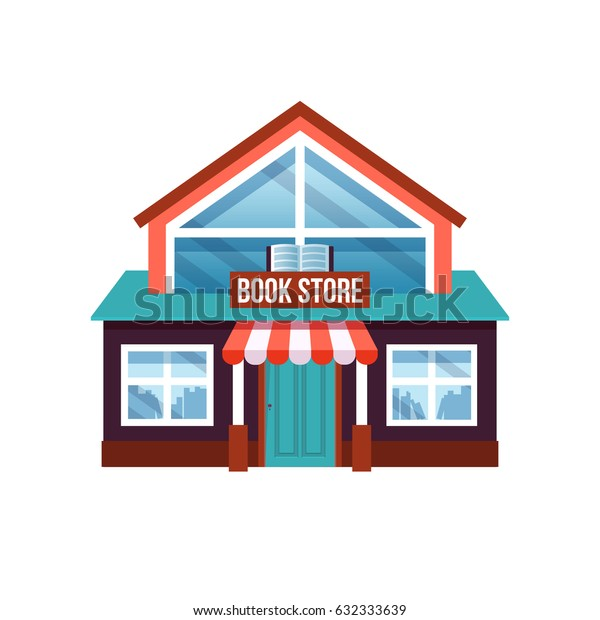 book store vector illustration isolated on white background