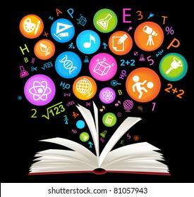 book symbol.The School of sciences