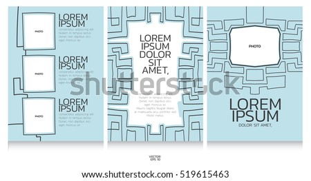 book template collection abstract line pencil stock vector royalty