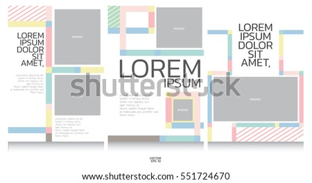 book template collection graphic background stock vector royalty