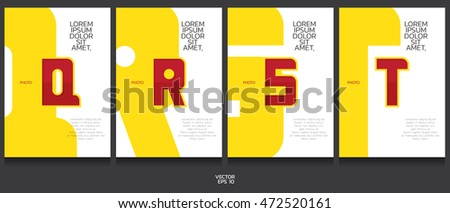 book template collection qt letter concept stock vector royalty