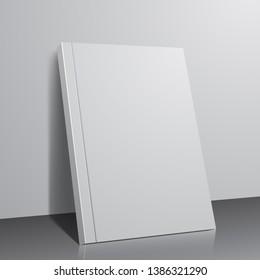Book template, three dimensional vector book cover design