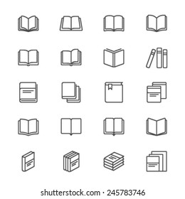 Book thin icons
