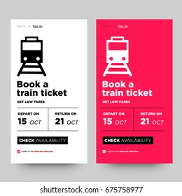 Book a Train Ticket and Get Low Fares UI UX Screen Design