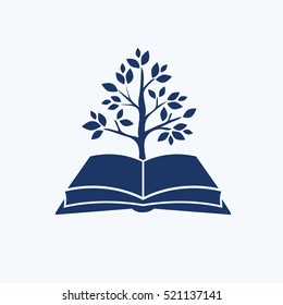 Book and tree design,clean vector