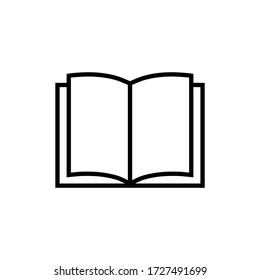 Book vector icon isolated on white background.