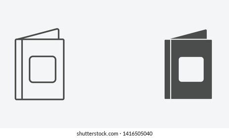 Book vector icon sign symbol