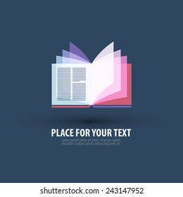 book vector logo design template. bookshop or literature icon.