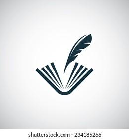 book write icon on white background
