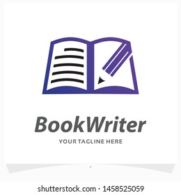 Book Writer Logo Design Template