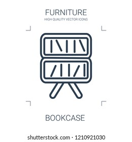 bookcase icon. high quality line bookcase icon on white background. from furniture collection flat trendy vector bookcase symbol. use for web and mobile