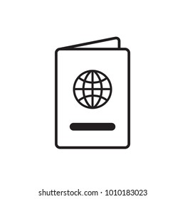 Booking, destination, journey, passport, Vector. Illustration. Isolate on white background.