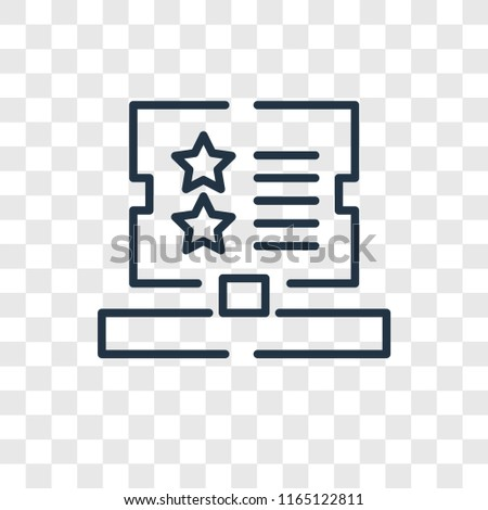 Booking Vector Icon Isolated On Transparent Stock Vector