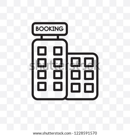 Booking Vector Linear Icon Isolated On Stock Vector Royalty