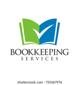 Bookkeeping, book, paper logo design template vector