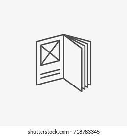 Booklet Vector Icon, Flat Catalogue Vector Symbol.