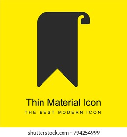Bookmark bright yellow material minimal icon or logo design