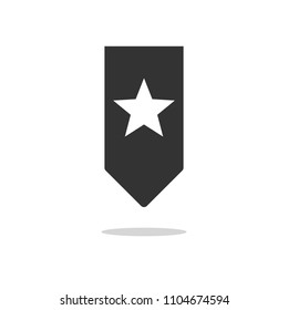 Bookmark icon. Add to concept with star
