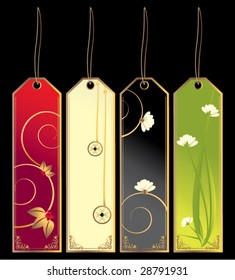 Bookmark tags - vector