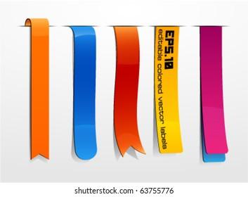 Bookmarks icon set