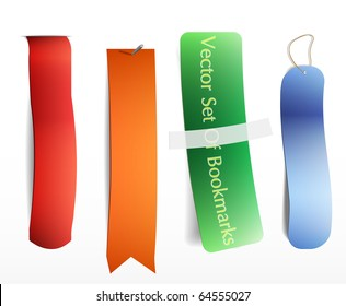 Bookmarks icon set. Vector . Eps 10 .
