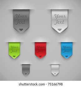 Bookmarks. Vector illustration