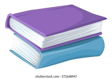 Books cartoon illustration