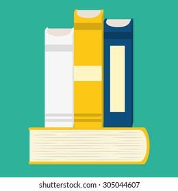 Books digital design, vector illustration 10 eps graphic