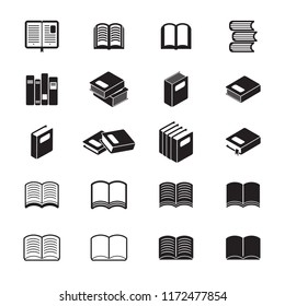 Books icon set. Vector.