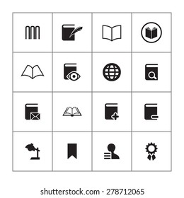 books icons universal set for web and mobile
