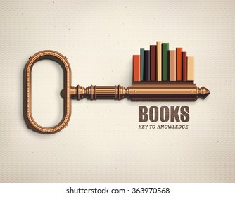 Books, key to knowledge, eps 10