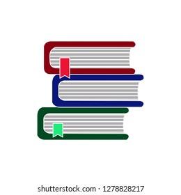 Books library icon-books illustration-literature symbol-bookstore vector-studying isolated-school illustration-university isolated