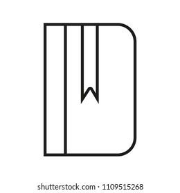 Books Line Icon Vector Isolated White Magazine Publish Pictogram Literature Shape Simple Education Graphic