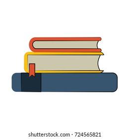 books pile icon image
