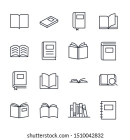Books set icon template color editable. Reading, library, literature education symbol vector sign isolated on white background illustration for graphic and web design.