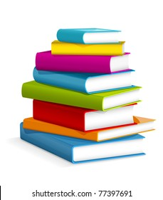 Books stack - vector illustration