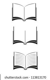 Books. Vector black. EPS-10 (non transparent elements,non gradient)