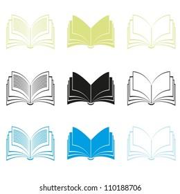 Books. Vector.  EPS-10 (non transparent elements,non gradient)