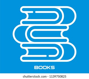 BOOKS VECTOR ICON