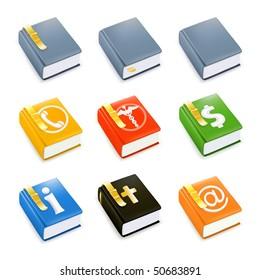 Books, vector icon set