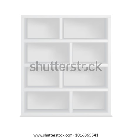 Bookshelf Template Isolated On White