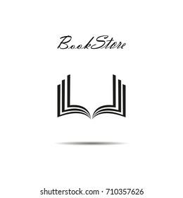 Bookstore or book shop logo for web design