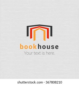 Bookstore, bookshop vector logo, sign, icon template with open book