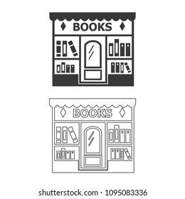 Bookstore vector  icon.