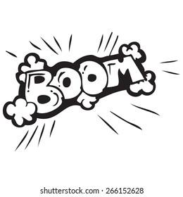 Boom Bomb Sign Doodle