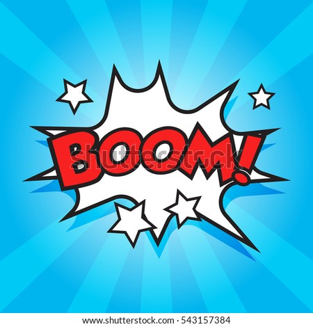 boom comic sound effects sound bubble stock vector royalty free